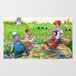 Midsummer luncheon Rug