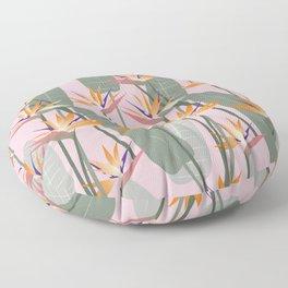 Bird of Paradise - pink Floor Pillow