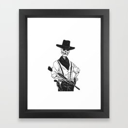 Sheriff with mustache and rifle Framed Art Print