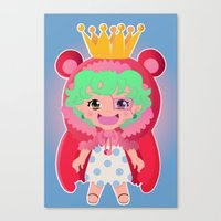 one piece Canvas Prints featuring Sugar from one piece by Dama Chan