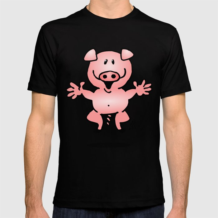 Cheerful little pig T-shirt