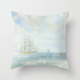 Wild Is The Wind - Cutty Sark - Maritime Painting Throw Pillow