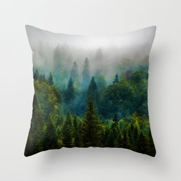forest redone Throw Pillow