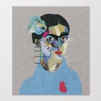 frida Canvas Prints featuring Frida by Zaneta Antosik