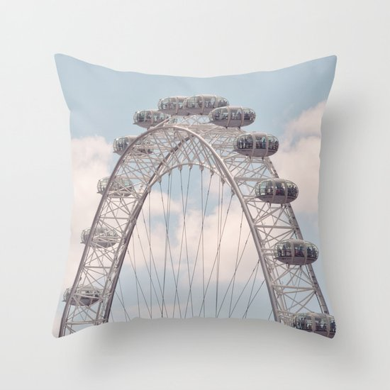 wheely small plane... Throw Pillow