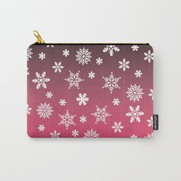 Snow Flurries-Pink/Black Ombre Carry-All Pouch
