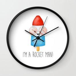 I'm A Rocket Man! - Popsicle Wall Clock
