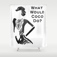 coco Shower Curtains featuring COCO by I Love Decor