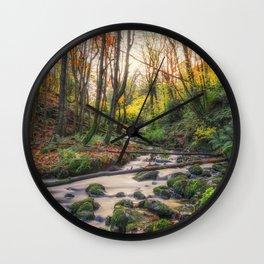 The Autumn Stream Wall Clock