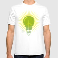 Bright Green Ideas Mens Fitted Tee MEDIUM White