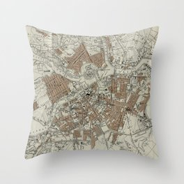 Vintage Map of St Petersburg (1893) Throw Pillow