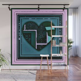 transparent heart (with pink) Wall Mural