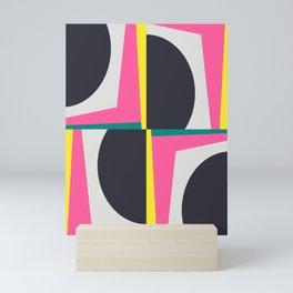 Modern Geometric 65 Pink Mini Art Print