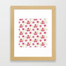 Watercolor Flower and leaf design, Floral pattern, nature art watercolor art beautiful floral design Framed Art Print