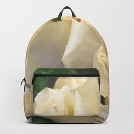 Ivory White Roses in Remembrance of Elizabeth Backpack