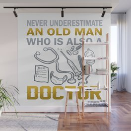 Old Man - A Doctor Wall Mural