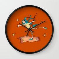 freedom Wall Clocks featuring Freedom by Catru