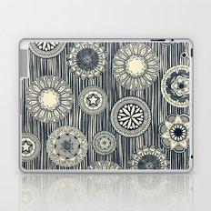 mandala cirque spot indigo cream Laptop & iPad Skin