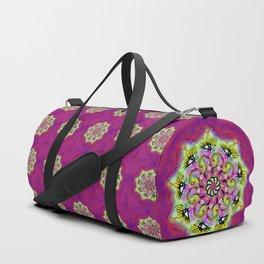 Spider Eye Mandala - Magenta BG Duffle Bag