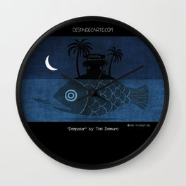 """Denpasar"" Illustration Toni Demuro Wall Clock"