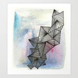 Geometrical Watercolour Art Print