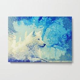 beautiful wolf art Metal Print