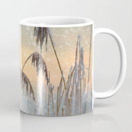 Phragmites Reed grass in the snowfall Coffee Mug