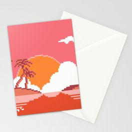 Sunset  on  Coco  Island Stationery Cards