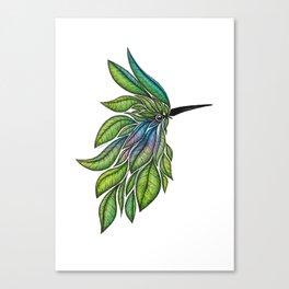 Leafed Birdie Canvas Print