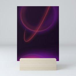 Minimal saturn Mini Art Print
