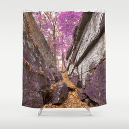 Gettysburg Grotto - Lavender Fantasy Shower Curtain