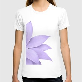 Agave Finesse #9 - Ultra Violet on White #tropical #decor #art #society6 T-shirt