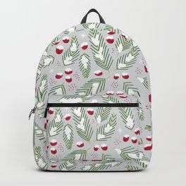 Winter Berries in Gray Backpack