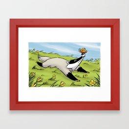 Flaccid Badger Framed Art Print