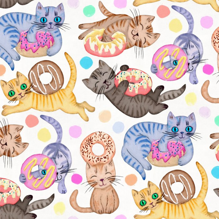 Sprinkles on Donuts and Whiskers on Kittens Leggings
