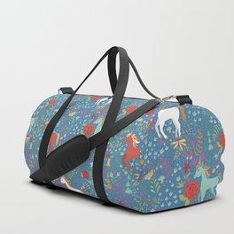 Colorful Unicorn Pattern Duffle Bag