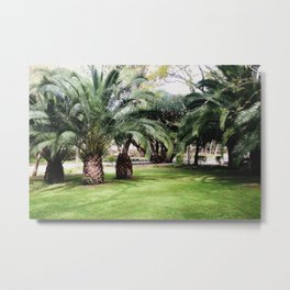 Pineapple Forest Metal Print