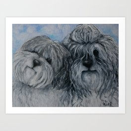 Dogs Brothers living in Holland sheep dogs Art Print