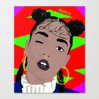 fka twigs Canvas Prints featuring FKA TWIGS by RVRXSPXCIX