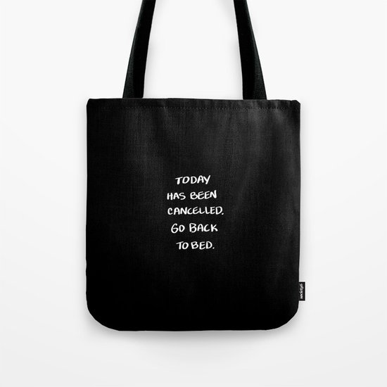 Go Back to Bed Tote Bag