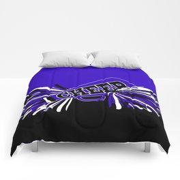 Blue, Black and White Cheerleader Design Comforters