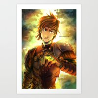 hiccup Art Prints featuring Hiccup by keiden