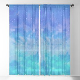 Sweet Blue Dreams Sheer Curtain