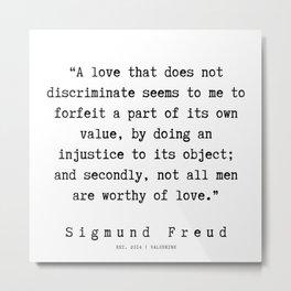 41   |   Sigmund Freud Quotes | 190926 Metal Print