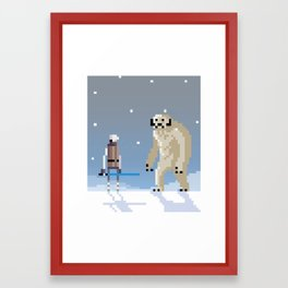 Luke Vs. Wampa Framed Art Print