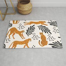 Cheetahs pattern on white Rug
