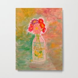 A Splash of Zinnia (Vibrant) Metal Print