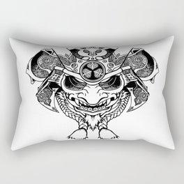 Oni Samurai Mask Rectangular Pillow