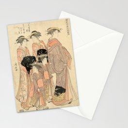The Courtesans Maizumi Of The Daimonjiya Brothel Stationery Cards