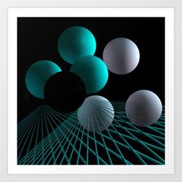 converging lines -2- Art Print